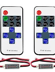 baratos -2pcs 5050 SMD / 5730 SMD / 2835 SMD Acessório Light Strip / RF sem fio Plástico Controlador RGB para luz de tira conduzida do RGB