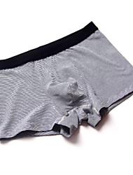 cheap -Men's Micro-elastic Solid Striped Briefs Underwear Medium,Cotton One-piece Suit Light gray Light Blue Fuchsia Gray Red
