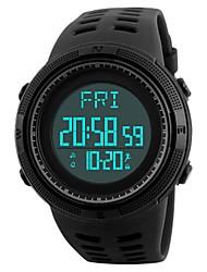 Недорогие -SKMEI Наручные часы Цифровой 50 m Защита от влаги Календарь Педометры PU Группа Цифровой На каждый день Мода Черный / Цвет клевера - Черный Зеленый / Хронометр