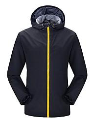cheap -Men's Hiking Jacket Outdoor Windproof Rain-Proof Winter Jacket Jacket Top Full Length Visible Zipper Camping / Hiking Climbing Cycling /