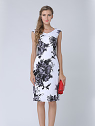 cheap -Women's Work A Line Dress Hole Print