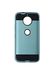 preiswerte -Hülle Für Motorola Stoßresistent Handyhülle für das ganze Handy Volltonfarbe Hart TPU für Moto G5s