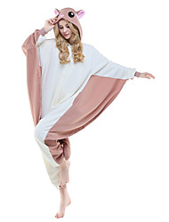 cheap -Kigurumi Pajamas Flying Squirrel Squirrel Mouse Onesie Pajamas Costume Polar Fleece Synthetic Fiber Brown Cosplay For Adults' Animal