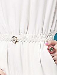 cheap -Women's Rhinestone Chain,White Vintage Casual