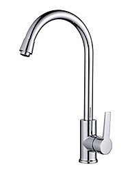 cheap -Contemporary Tall/­High Arc Standard Spout Deck Mounted Rotatable Ceramic Valve Single Handle One Hole Chrome, Kitchen faucet