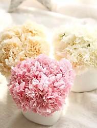 preiswerte -1 Ast Polyester Nelken Tisch-Blumen Künstliche Blumen