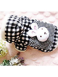cheap -Dog Coat Dog Clothes Keep Warm Leisure Cute Style Stripe Check Animal Black Costume For Pets