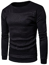 cheap -Men's Long Sleeve Sweatshirt - Leopard Round Neck / Please choose one size larger according to your normal size.
