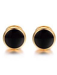 cheap -Circle Golden Cufflinks Gold Plated Cool Fashion Gift Office & Career Men's Costume Jewelry