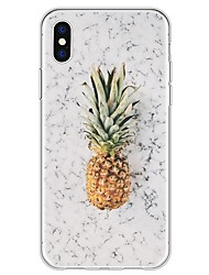 abordables -Coque Pour Apple iPhone X iPhone 8 Plus Motif Coque Marbre Fruit Flexible TPU pour iPhone X iPhone 8 Plus iPhone 8 iPhone 7 Plus iPhone 7