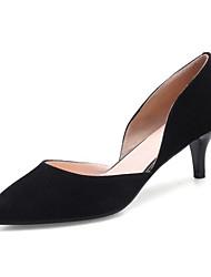 preiswerte -Damen Schuhe Nubukleder Leder Frühling Herbst Komfort Pumps High Heels Stöckelschuh für Normal Schwarz Grau Hautfarben