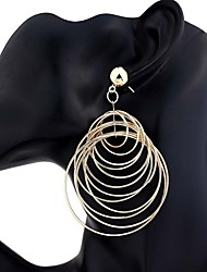 cheap -Women's Drop Earrings Oversized Fashion Alloy Circle Jewelry Party Festival Costume Jewelry