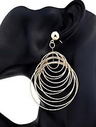 cheap -Women's Drop Earrings - Fashion, Oversized Gold / Silver For Party / Festival