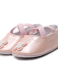 cheap -Girls' Shoes Leatherette Spring / Fall Comfort / First Walkers / Crib Shoes Flats Appliques / Gore for White / Dark Red / Almond