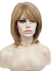 cheap -Women's Synthetic Wigs Medium Bob Hairstyle Strawberry Blonde Wig Natural Wigs