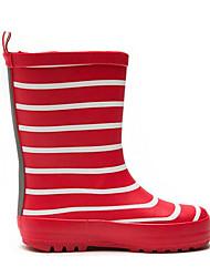 baratos -Para Meninas sapatos Borracha Primavera Outono Conforto Botas de Chuva Botas Botas Cano Médio para Casual Preto Vermelho