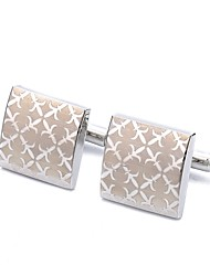cheap -Rectangle Silver Cufflinks Alloy Fashion Dresswear Daily Formal Men's Costume Jewelry