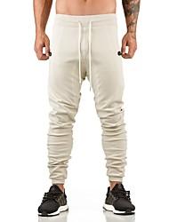abordables -Hombre Pantalones Jogger / Pantalones de Running - Blanco, Negro, Gris Deportes Pantalones / Sobrepantalón Ejercicio y Fitness, Ciclismo