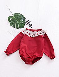 abordables -bébé Fille simple Quotidien / Sports Couleur Pleine Sans Manches Coton / Lin / Fibre de bambou Le maillot de corps / Bébé