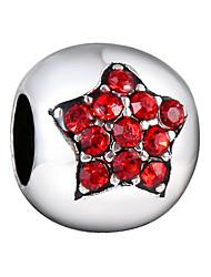 cheap -DIY Jewelry 5 pcs Beads Alloy Purple Fuchsia Pearl Pink Red Blue Round Bead 0.45 cm DIY Necklace Bracelet