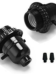 Недорогие -2 шт. E26 / e27 бакелитовый держатель для ламп с лампочкой с кнопкой кнопочного переключателя винтажный подвесной светильник edison diy diy