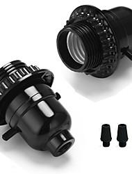 cheap -2 pcs E26/E27 Bakelite Base Bulb Socket Lamp Holder With Knob Button Switch Vintage Edison Pendant Lamp Holder DIY