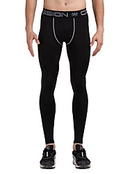 cheap -Men's Running Tights - Mineral Green, Black / White, Grey Sports Striped Tights / Leggings Fitness, Gym, Workout Activewear Fast Dry