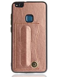 economico -Custodia Per Huawei P8 Lite (2017) P10 Lite Porta-carte di credito Con supporto Tinta unica Resistente per Huawei