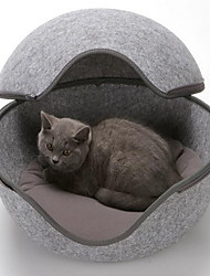 cheap -Cat Dog Bed Pet Baskets Solid Mini Light Blue Pink Brown Gray For Pets