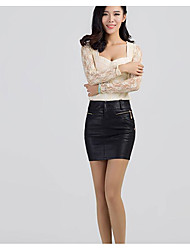 cheap -Women's Daily Short / Mini Skirts, Simple Bodycon Polyester Solid Spring
