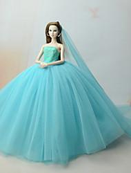 economico -Vestiti Vestiti Per Bambola Barbie Verde mare Abiti Per Ragazza Bambola giocattolo