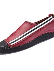 pánské boty pu jarní pád pohodlí mokasíny&šňůry pro venkovní červenou šedou čerň