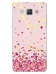 Недорогие -Кейс для Назначение SSamsung Galaxy A7(2017) A5(2017) С узором Задняя крышка Плитка С сердцем Мрамор Мягкий TPU для A5 (2017) A7 (2017)
