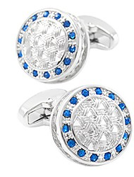 cheap -Circle Blue Cufflinks Crystal / Copper Casual / Basic Men's Costume Jewelry For Daily / Formal