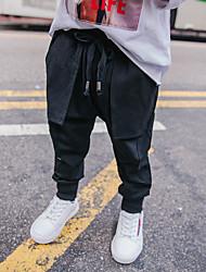 abordables -Pantalons Garçon Quotidien Couleur Pleine Laine Coton Lin Fibre de bambou Acrylique Printemps simple Rétro Noir