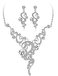 cheap -Women's Crystal / Rhinestone Gold Plated Jewelry Set 1 Necklace / Earrings - Fashion Geometric White Jewelry Set For Wedding / Gift