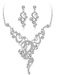 abordables -Mujer Cristal Conjunto de joyas - Chapado en Oro Moda Incluir Blanco Para Boda / Regalo / Pendientes
