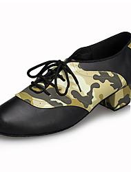 "cheap -Men's Latin Leather Sneaker Training Trim Low Heel Dark Brown Brown 1"" - 1 3/4"" Customizable"