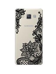 abordables -Funda Para Samsung Galaxy A7(2017) / A7(2016) Diseños Funda Trasera Impresión de encaje Suave TPU para A3 (2017) / A5 (2017) / A7 (2017)