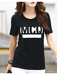 cheap -Women's Cotton T-shirt Print