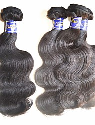 cheap -best peruvian hair bundles weaves 4pieces 400g lot unprocessed virgin human hair material made natural black color