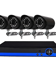 cheap -4 CH Security System with 4ch 1080N  AHD DVR 41.3MP Weatherproof Cameras with Night Vision