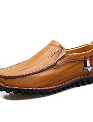Cipele Prava koža Koža Proljeće Jesen Udobne cipele svečane cipele Cipele za ronjenje Natikače i mokasinke za Kauzalni Crn Braon Žutomrk