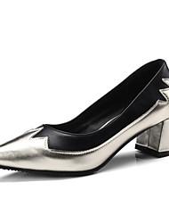 Недорогие -Жен. Обувь Материал на заказ клиента Весна / Осень Оригинальная обувь / Туфли лодочки Обувь на каблуках На толстом каблуке Заостренный
