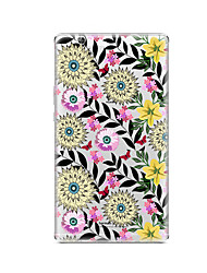 cheap -Case For Huawei Huawei MediaPad T3 8.0 Transparent Pattern Back Cover Flower Soft TPU for