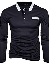 preiswerte -Herrn Solide Sport Übergrössen Baumwolle Polo, Hemdkragen