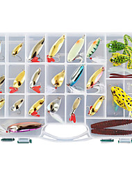 cheap -138 pcs Hard Bait Soft Bait Flies Lure kits Fishing Lures Metal Bait Lure Packs Vibration/VIB Popper Pencil Crank Minnow Flies Jerkbaits