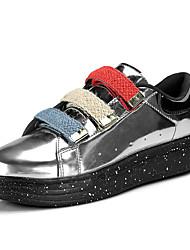 economico -Per uomo Suole leggere Vernice Primavera / Autunno Comoda / Collegiale Sneakers Footing A strisce Nero / Argento / Rosso / Serata e festa / Monocolore