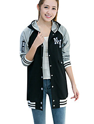 cheap -Women's Petite Casual/Daily Simple Hoodie Print Hooded Without Lining Micro-elastic Cotton Long Sleeve Winter Fall