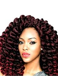abordables -Rajouts de Tresses Boucle rebondissante Crochet Hair Braids Cheveux Synthétiques 20 racines / paquet, 1pack Cheveux Tressée A Ombre Court Nouvelle arrivee